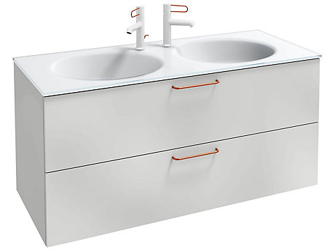 Meuble sous plan-vasque 120 cm, 2 tiroirs