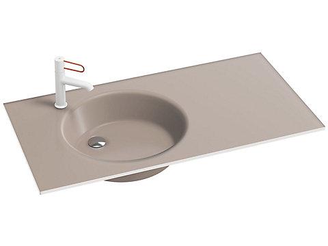 Plan-vasque verre givré, 101 cm