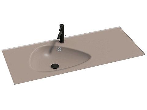 Plan-vasque verre givré 121 cm