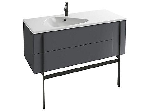 Meuble sous plan-vasque 120 cm, 2 tiroirs + 1 tiroir rack