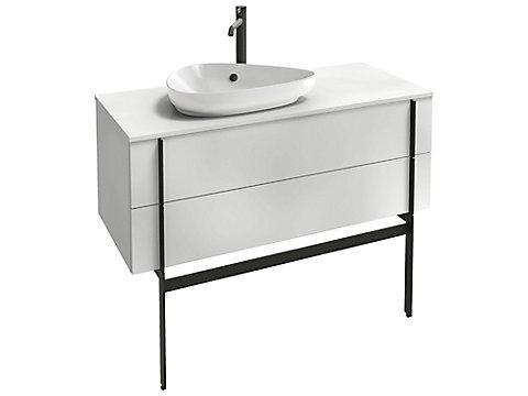Meuble sous vasque 100 cm, 2 tiroirs