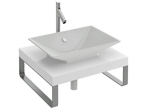 Plan de toilette sur-mesure de 60 à 139,9 cm avec découpe