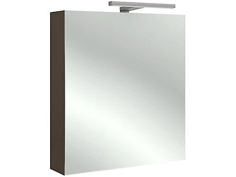 Armoire de toilette 60 cm, droite, avec éclairage LED