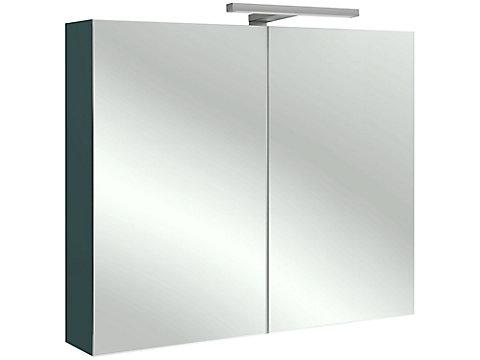 Armoire de toilette 80 cm, avec éclairage LED