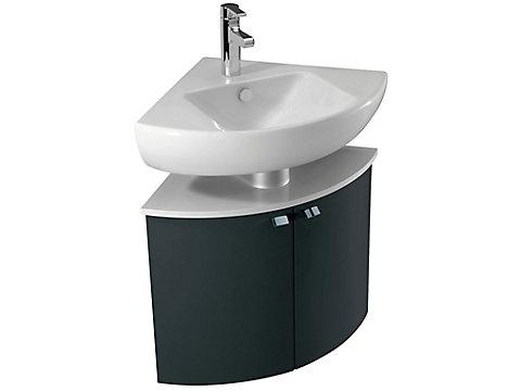 Meuble d'angle sous lavabo d'angle 68 cm