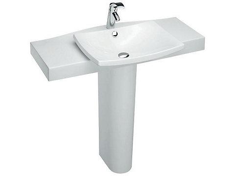 Plan-vasque semi-encastré