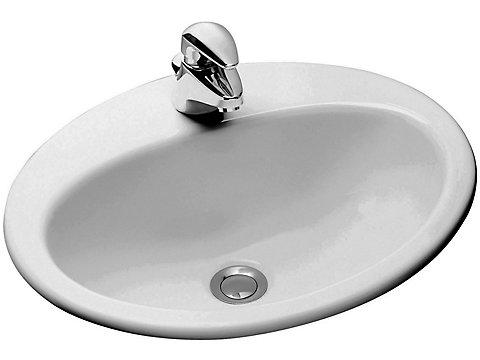 Vasque à encastrer par-dessus 50 cm
