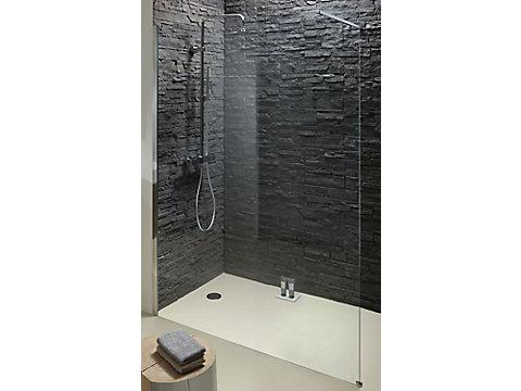 Paroi fixe pour un espace douche ouvert