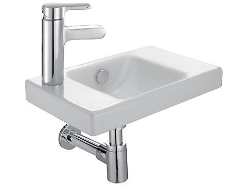 Lave-mains 40 cm, percé à gauche