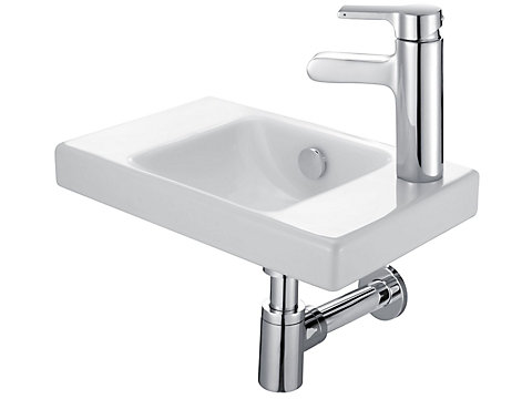 Lave-mains 40 cm, percé à droite