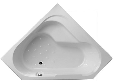 Baignoire bain-douche, version gauche