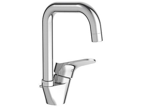 Mitigeur lavabo bec tube - avec système d'installation breveté 5|35''