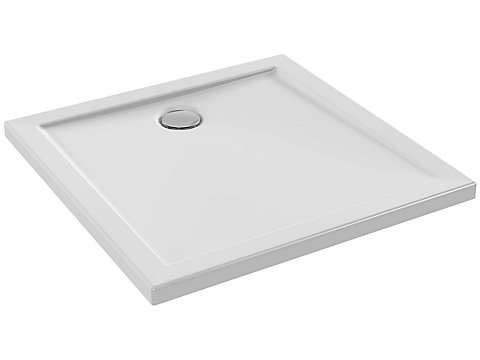 Receveur extra plat à poser ou à encastrer 80x80 cm