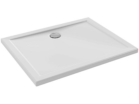Receveur extra plat à poser ou à encastrer 100x80 cm
