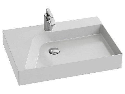 Vasque à poser 65 cm, cuve droite