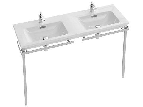 Plan-vasque double 141 cm