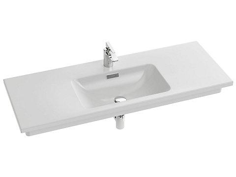 Plan-vasque céramique, 121 cm, meulé