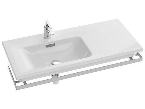 Plan-vasque céramique, 101 cm, gauche, non-meulé