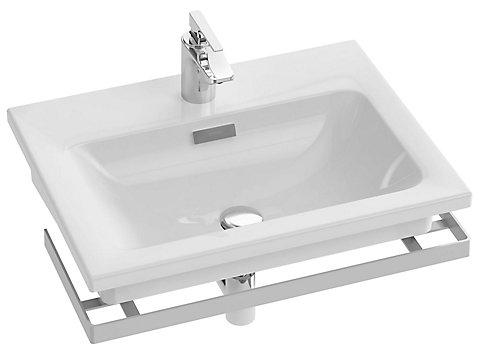 Plan-vasque céramique, 61 cm, non-meulé