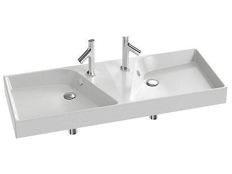 Plan-vasque double 120 cm