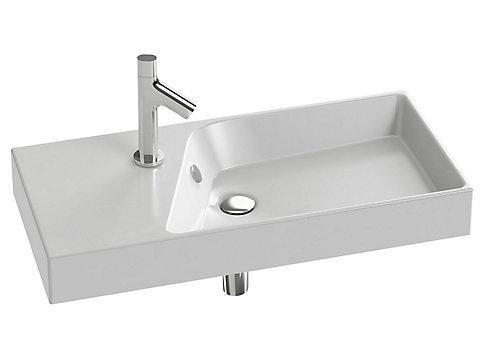 Plan-vasque 80 cm compact, non meulé