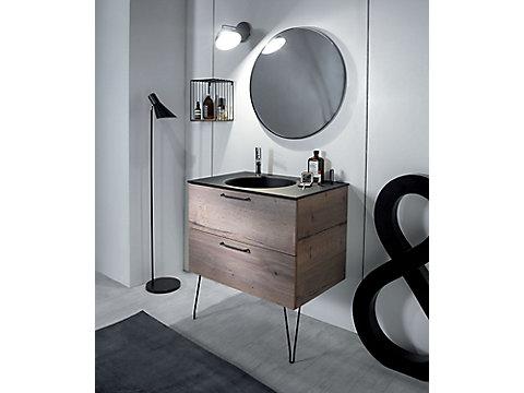 Miroir rond cadre MDF Ø 70 cm
