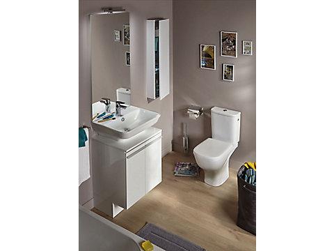 Meuble sous lavabo 55,5 cm, 2 portes