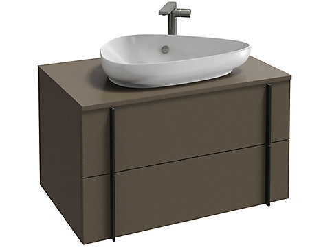 Meuble sous vasque 80 cm, 2 tiroirs