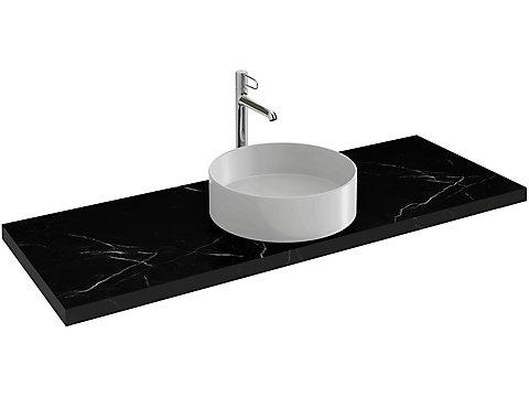 Plan de toilette CaroCeram 200 cm avec 1 découpe centrée pour vasque à poser