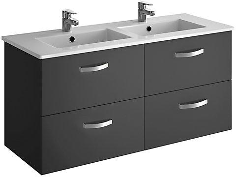 Pack meuble 4 tiroirs + plan-vasque 120 cm