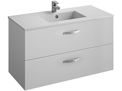 Pack meuble 2 tiroirs + plan-vasque 100 cm