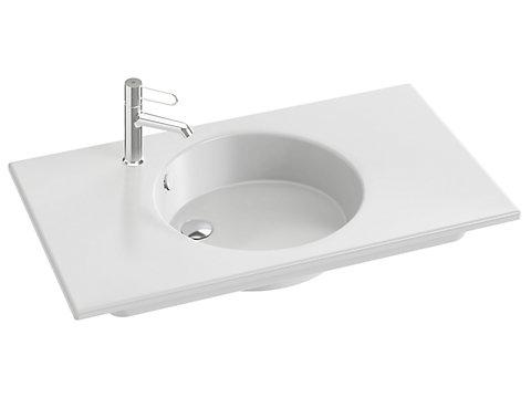Plan-vasque céramique 90 cm, meulé