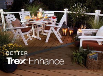 Building a deck with Trex's Enhance product line? Our deck cost estimator can help you price out the materials you'll need to build your dream deck.