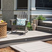 Create grand deck designs or tranquil relaxing spaces with Trex high  performance decking