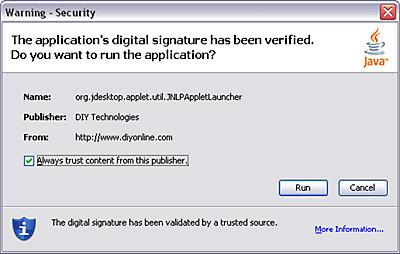 Deck Designer FAQ Image 1 - Warning Security