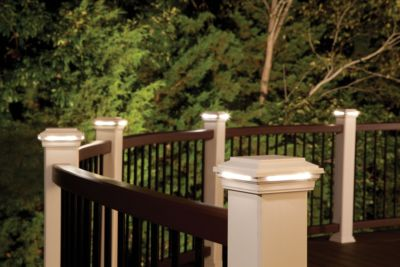 Post cap lights are another way to add style to your deck at night