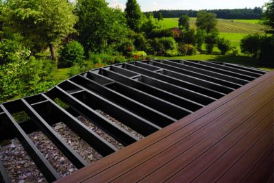 Trex Elevations Steel Deck Framing creates a solid foundation on which to  build your high performance composite deck.