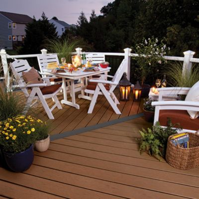 tablescape from the Trex Coastal Collection featuring Trex patio furniture