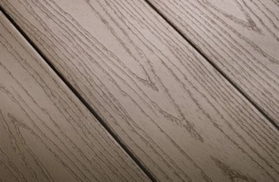 Wood grain pattern of Trex Escapes PVC decking