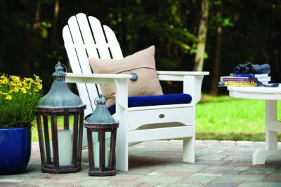 shop trex deck and patio furniture like this white adirondack chair