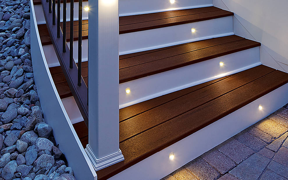 Deck Lighting Post Lights Led Step Amp Stair Lights Trex
