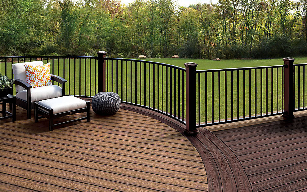 Garden Furniture Made From Decking trex signature railing - great for outdoor & deck hand railing | trex