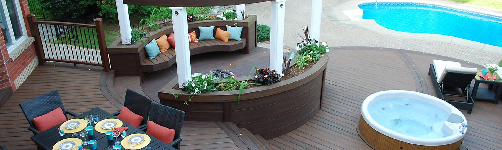 Holzalternativen Für Terrassen, Geländer, Beleuchtung Und Möbel - Trex Terrassen Gelander Design