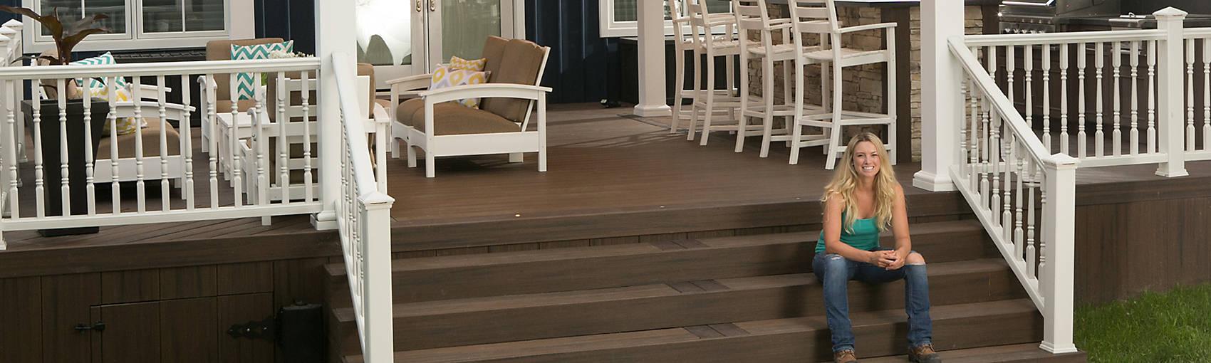 composite decking composite deck materials trex