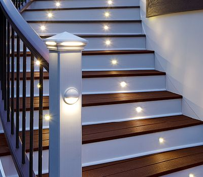 Led landscape lighting outdoor pathlights well lights for Landscape deck lighting