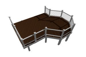 Overlook deck design plan created by Trex