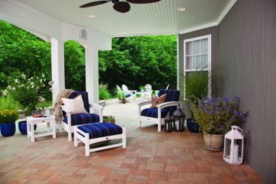 Deck Framing Drainage on Black Outdoor Patio Furniture