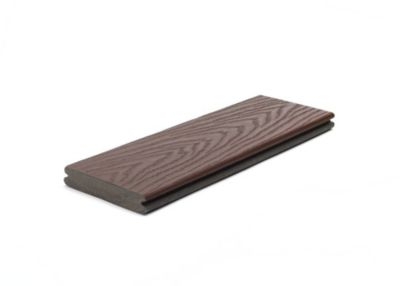 Trex Select grooved composite deck board in Madeira red