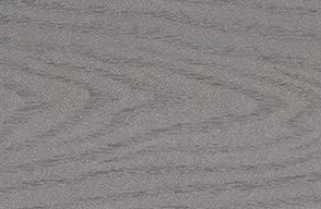 Detalle de terraza de compuesto Enhance en Clam Shell grey y Beach Dune brown