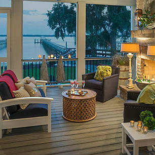 Trex's gallery of porch and patio designs will inspire you to create your ideal outdoor living environment.